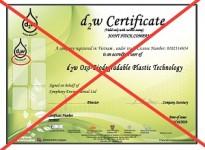 Lưu ý giấy chứng nhận sản phẩm d2w giả, nhái đang lưu hành trên thị trường Việt Nam